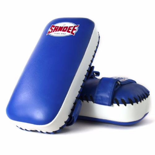 Sandee Straight Thai Kick Pads - Blue